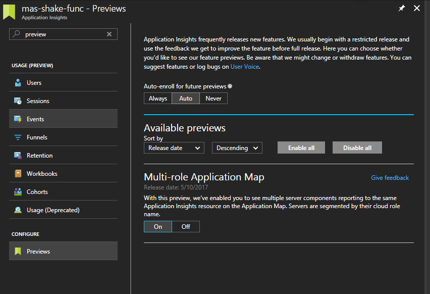 Enable Multi-Role Application Map